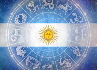 Bandera Argentina y Mandala Astrológico